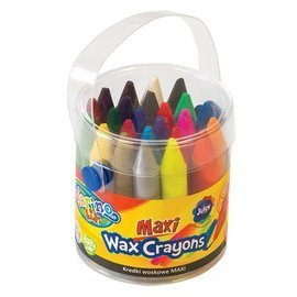 Maxi wax crayons 24 colours Colorino Kids 65580PTR
