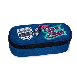 Pencil case  CoolPack Campus Girls Badges Denim 38074CP No. B62057