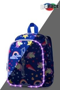 School backpack Coolpack Bobby LED Unicorns 22738CP A23208