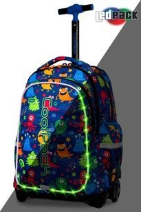 School backpack Coolpack Junior LED Funny Monsters 94740CP A28206
