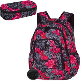 School backpack Coolpack Strike Red & Black Flowers 86363CP nr A241