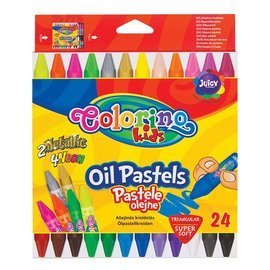 Triangular oil pastels 24 colours Colorino Kids 36085PTR
