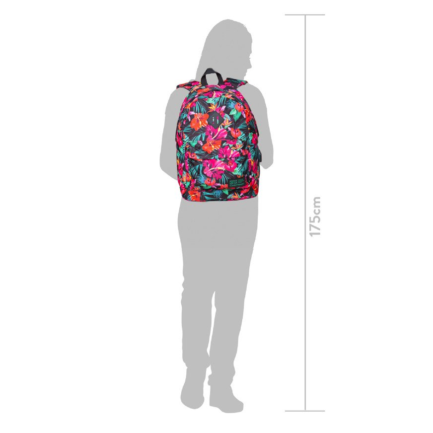 Backpack CoolPack Cross White Hibiscus 29898CP nr B26045
