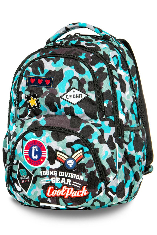 2f900cc921af4 Backpack Coolpack Dart Camo Blue Badges 24152CP A29113 - Backpacks ...
