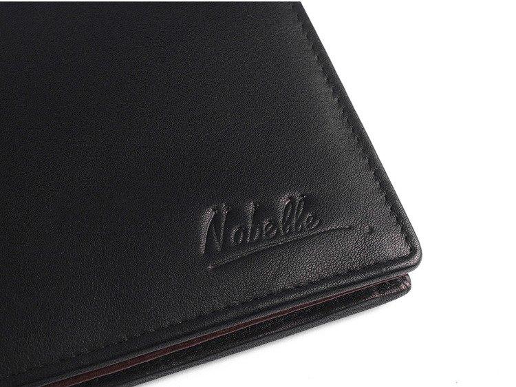 710cc2dc30eb9 ... Klasyczny skórzany portfel męski funkcjonalny Nobelle czarny poziomy  Click to zoom ...