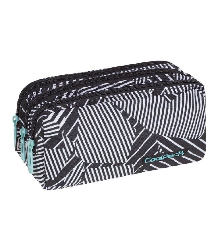 Triple Decker Pencil Case Coolpack Primus Black Amp White