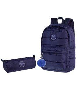2e04e9a9d16dc Zestaw młodzieżowy Coolpack 2018 Ruby Navy Blue - plecak Ruby i piórnik Tube