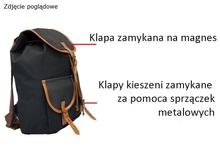 f73839ba5a141 ... Duży plecak vintage szkolny Mr Thomas TOB-PL6 Panterka Kliknij, aby  powiększyć ...