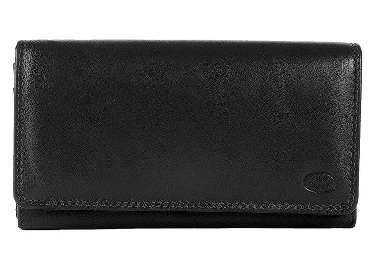 1fb46971ff489 Elegancki skórzany portfel damski Old River MK-057 Czarny Kliknij, aby  powiększyć ...
