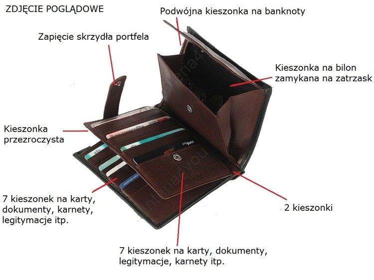 8488fb898064d ... Klasyczny skórzany portfel męski funkcjonalny Nobelle czarny pionowy  Kliknij