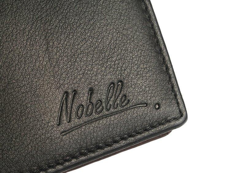 51c3cad5c5e68 Klasyczny skórzany portfel męski funkcjonalny Nobelle czarny pionowy ...