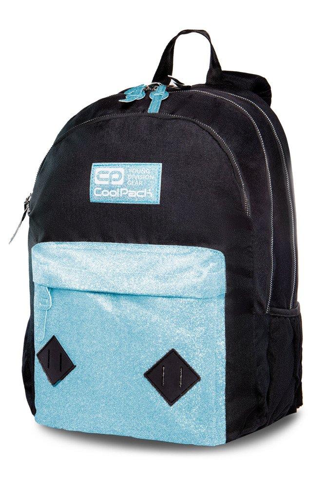 958ac1294a90c Kliknij, aby powiększyć; Młodzieżowy Plecak szkolny Coolpack Hippie Blue  Glitter 22370CP B33083