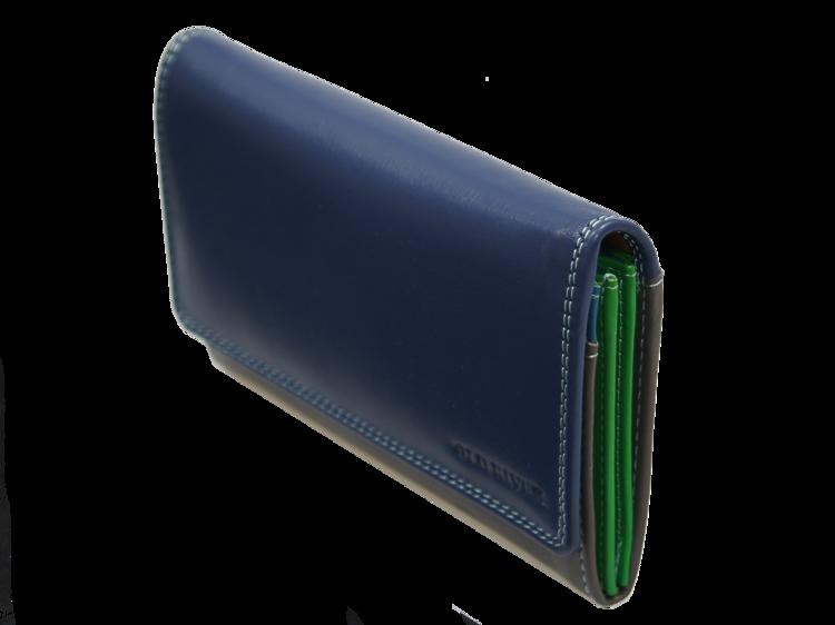 828fd33046873 Niepowtarzalny skórzany portfel damski kolorowy Old River MK-57 ...