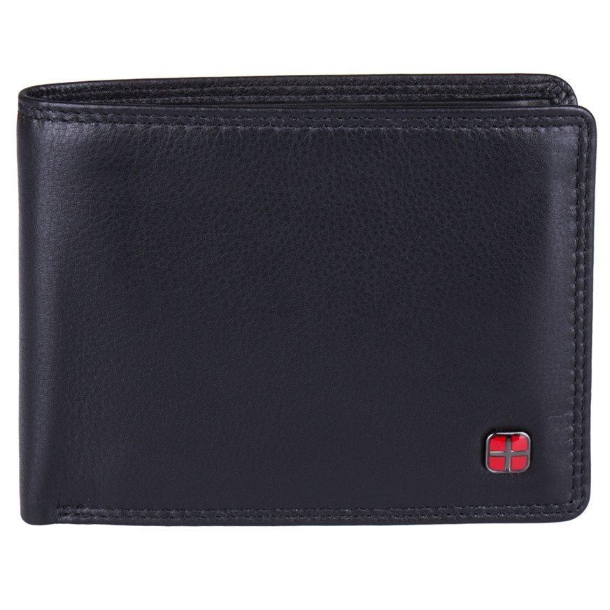 70ccd6df89e7c Portfel męski poziomy czarny ze skóry naturalnej RFID STOP New Bags LBC-107  Kliknij, aby powiększyć ...
