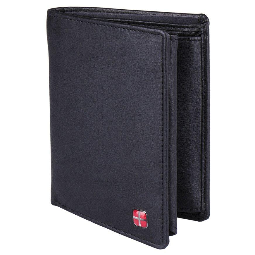 fdcaa17d46516 Portfel męski pionowy czarny ze skóry naturalnej RFID STOP New Bags LBC-110  Kliknij, aby powiększyć ...