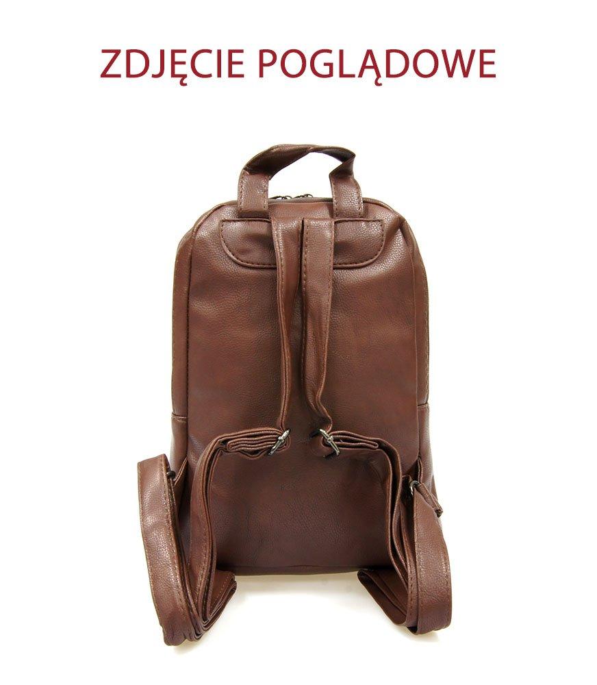 3e8f81fb3c0ed Plecak damski mały New Bags R-2006 Brązowy - Plecaki \ Plecaki ...