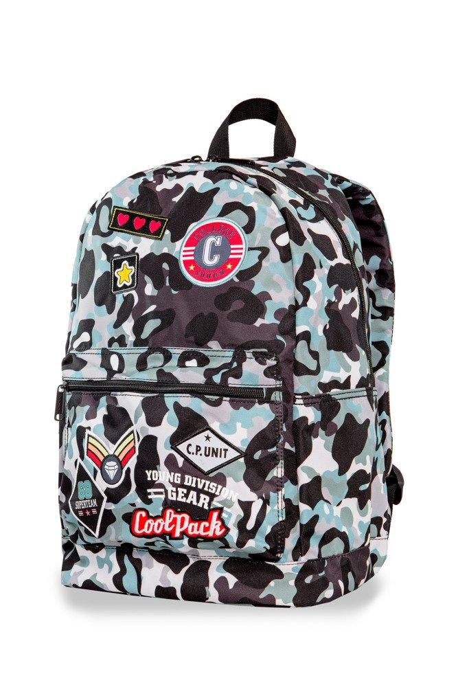 e312c93bf296a Plecak młodzieżowy Coolpack Cross Camo Blue Badges 24176CP A26113 ...