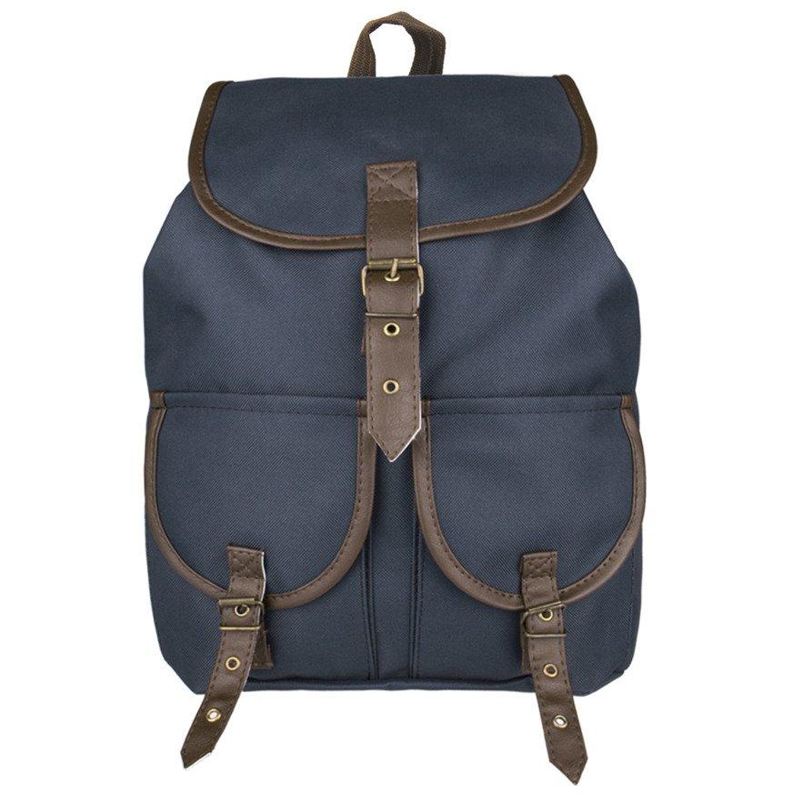 d96181fc6e7b2 Plecak szkolny turystyczny vintage Mr Thomas TOB-PL5 Granatowy ...