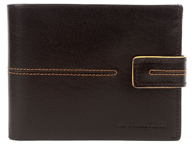 6e80c7dfbe630 Portfel skórzany męski poziomy średni VIP Collection brązowy Kliknij