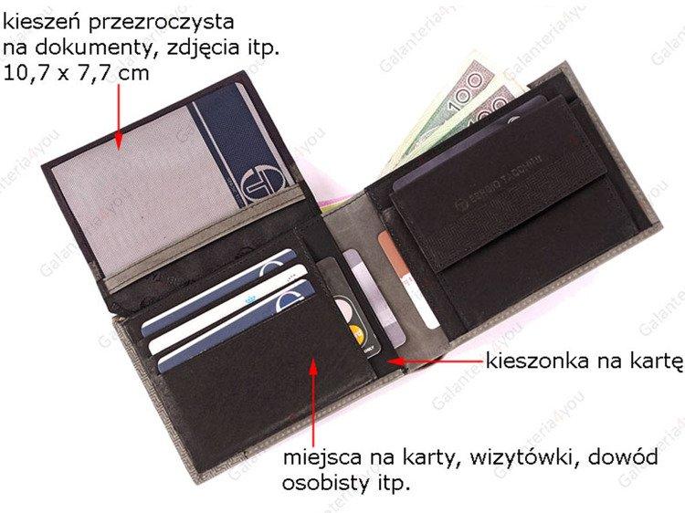 6aae102f7fe20 ... Skórzany portfel męski Sergio Tacchini szary K50TGDP029 GRI Kliknij