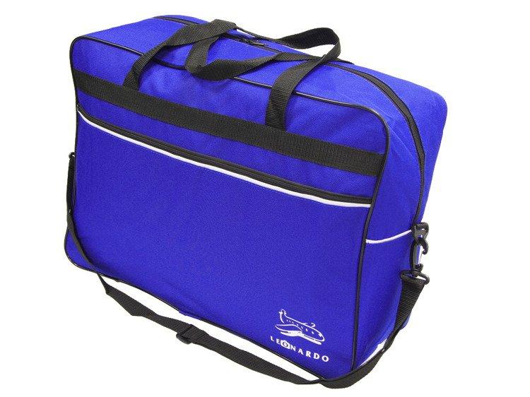 Torba bagaż podręczny Ryanair 55x40x20 Leonardo Niebieska