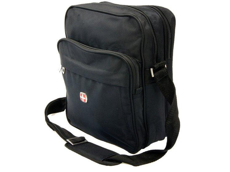 6a29e87fe4efe Torba męska na ramię New Bags czarna NB-5059 - Torby   Torby szkolne ...