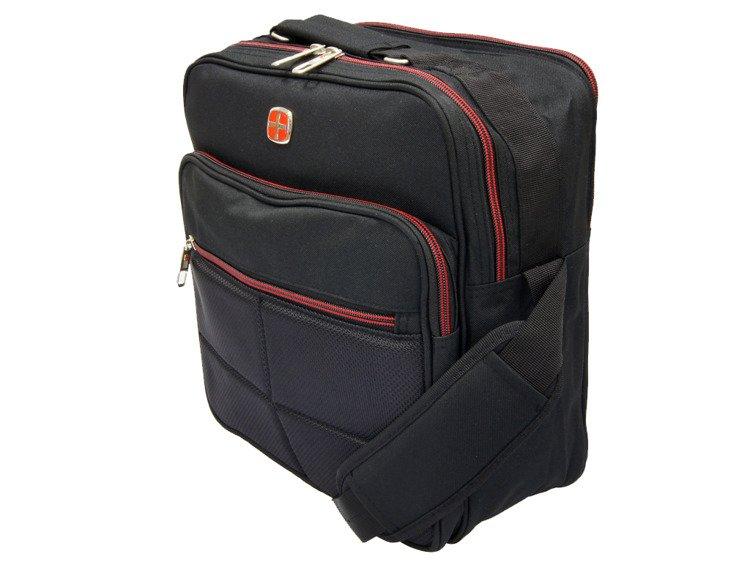 8fea038f2217e Torba męska na ramię New Bags czarna NB-5097 - Torby   Torby szkolne ...